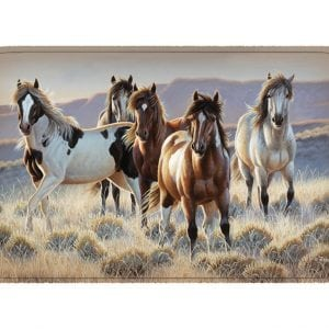 Herd of horses bath / kitchen mat