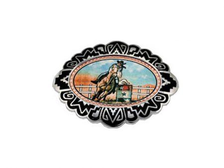 Western Barrel Racer Belt Buckle