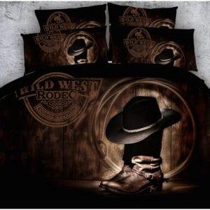 Bedding Set -Cowboy Boots & Hat