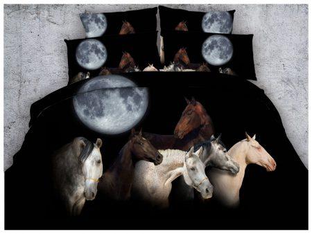 Bedding Set - A Moonlit Run of Horses