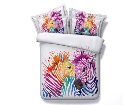 Bedding Set - Zebras in Colour