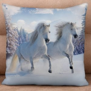 Cushion Cover - Dashing through the Snow