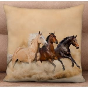 Cushion Cover - Horse Trio