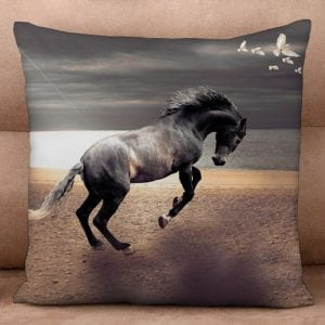 Cushion Cover - Rearing Horse at Sunset