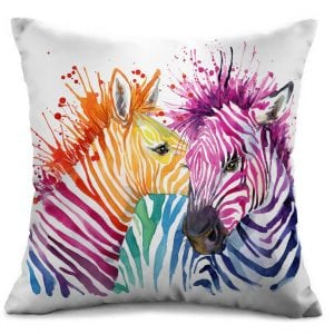 Cushion Cover - Zebras in Colour
