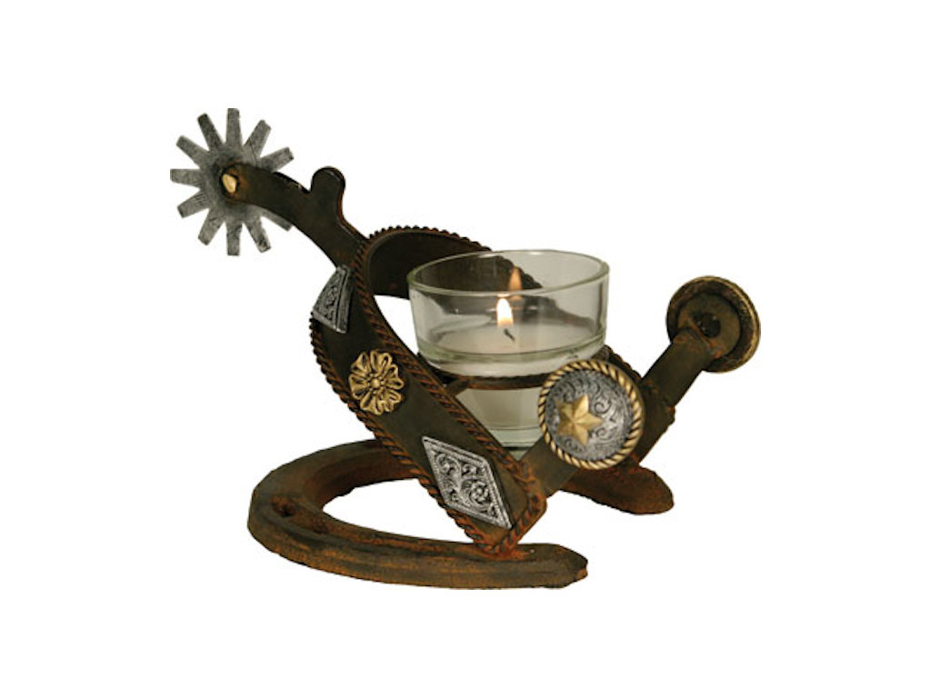 Spur candle holder gallop n gifts home decor for Spurs decorations