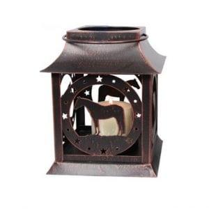 Rustic Metal Horse Lantern