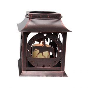 Rustic Horse and Rider Lantern