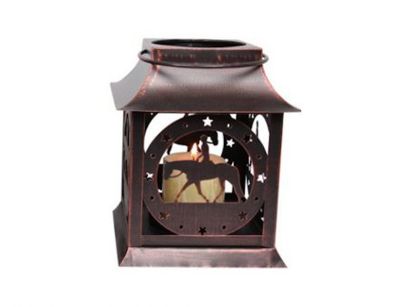 Rustic Horse and Rider Lantern