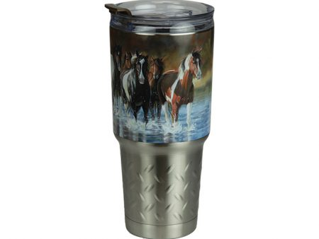 Rush Hour Stainless Steel Food or Drink Tumbler 950ml
