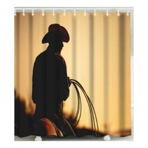 Shower Curtain - Cowboy's Silhouette
