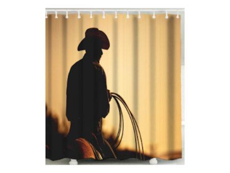 Shower Curtain - Cowboy's Silhouette