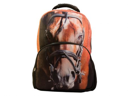 Stylish-backpack-with-horse-head-print