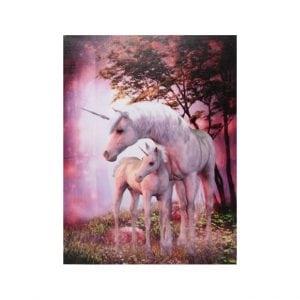 Unicorn Mare & Foal Canvas