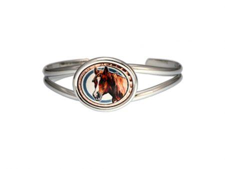 Handcrafted Horse Silver Bracelet
