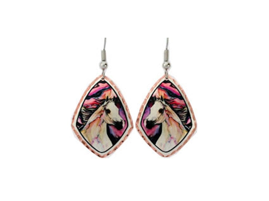 more jewellery earrings gold enamel hoop detail floral views with colourful