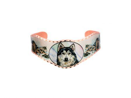 Colourful Grey Wolf Bracelet