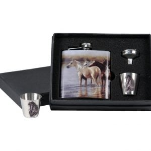 Horse Flash & Shot Glass Gift Set