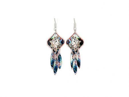 Handcrafted Colourful Horse Dangle Earrings