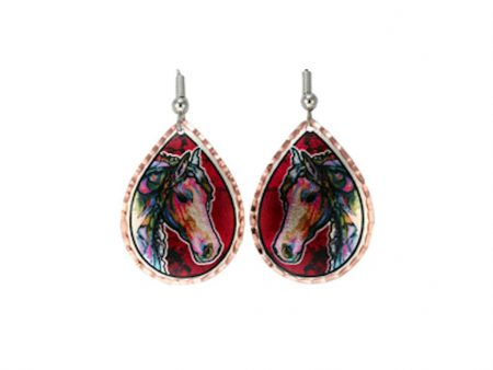 Handcrafted Colourful Horse Earrings