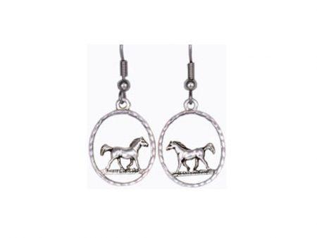 Silver Horse Earrings