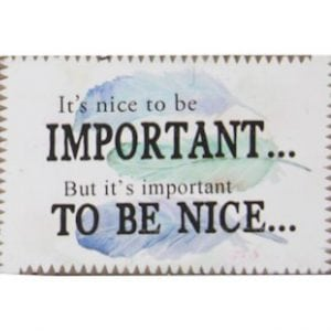 Inspiration Magnet - Important to be Nice
