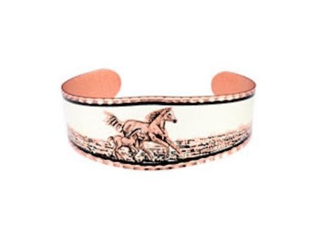 Mare and Foal Copper Bracelet