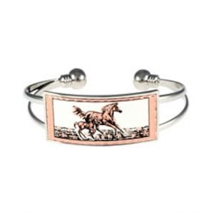 Silver Mare and Foal Bracelet