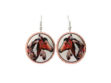 Native American Paint Horse Earrings