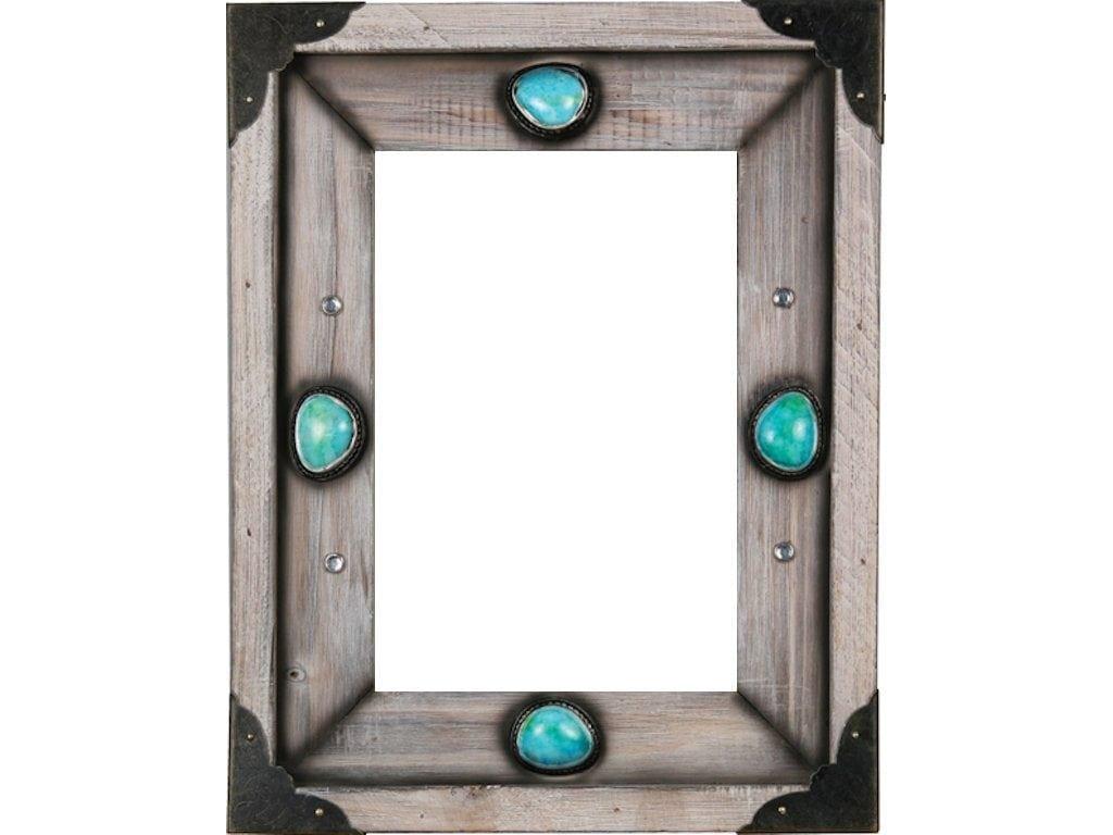 Western Wood Turquoise Photo Frame