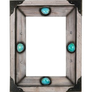 Western Wood Turquoise Photo Frame