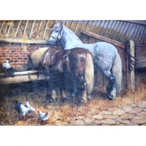 Horse in a Barn Scene Bath / Kitchen Mat