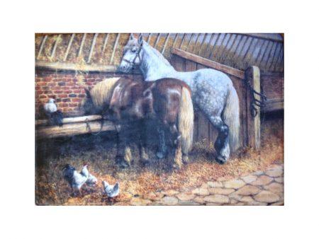 Horse in a Barn Scene Bath / Kitchen Mat