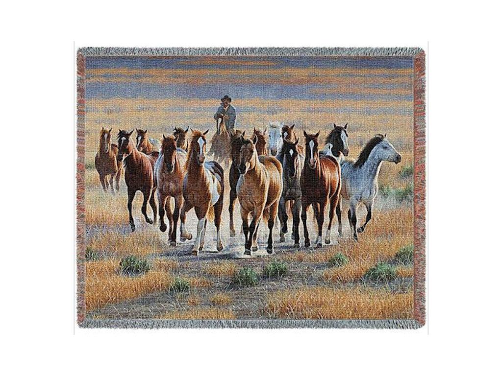 Tapestry Blanket -Bringing Them In