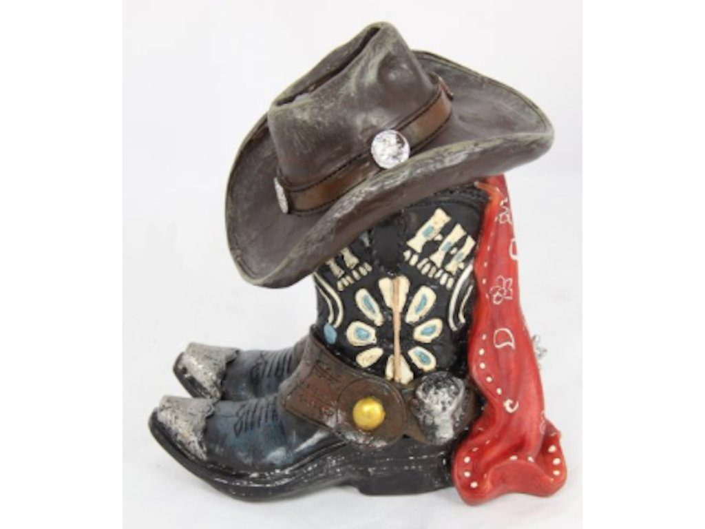 Cowboy Boots and Hat Money Box