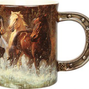 Horse Scene 3D 450ml Mug