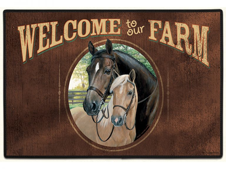 Welcome to Our Farm Indoor / Outdoor Mat