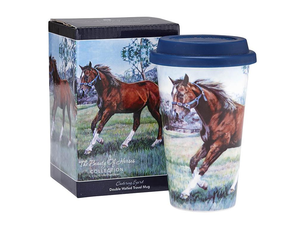 Beauty of Horses Cantering Spirit Travel Mug