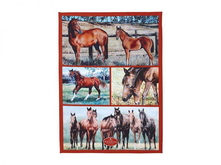 Beauty of Horses Tea Towel